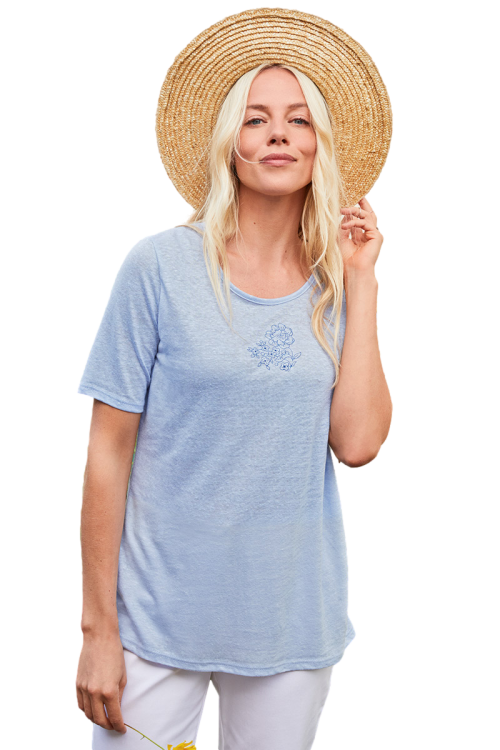 Tee-shirt lin manches courtes